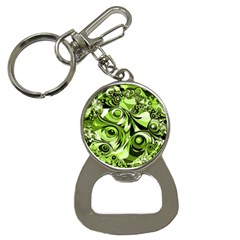 Retro Green Abstract Bottle Opener Key Chain by StuffOrSomething
