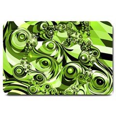 Retro Green Abstract Large Door Mat by StuffOrSomething
