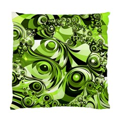 Retro Green Abstract Cushion Case (two Sided)  by StuffOrSomething