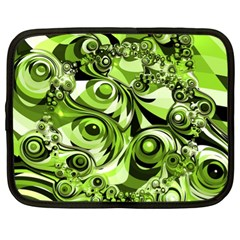 Retro Green Abstract Netbook Sleeve (xl) by StuffOrSomething