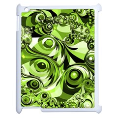 Retro Green Abstract Apple Ipad 2 Case (white) by StuffOrSomething