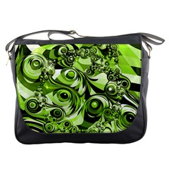 Retro Green Abstract Messenger Bag by StuffOrSomething