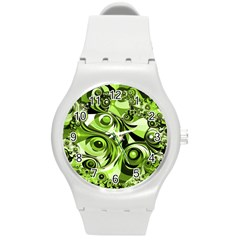 Retro Green Abstract Plastic Sport Watch (medium)