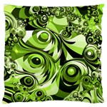 Retro Green Abstract Large Cushion Case (Two Sided)  Front
