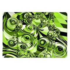 Retro Green Abstract Samsung Galaxy Tab 10 1  P7500 Flip Case by StuffOrSomething