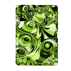 Retro Green Abstract Samsung Galaxy Tab 2 (10 1 ) P5100 Hardshell Case  by StuffOrSomething