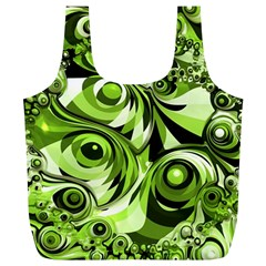 Retro Green Abstract Reusable Bag (xl) by StuffOrSomething