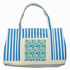 Sailing The Bay Blue Striped Tote Bag by StuffOrSomething
