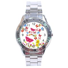 Butterfly Beauty Stainless Steel Watch by StuffOrSomething