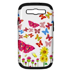 Butterfly Beauty Samsung Galaxy S Iii Hardshell Case (pc+silicone) by StuffOrSomething