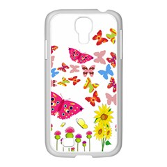 Butterfly Beauty Samsung Galaxy S4 I9500/ I9505 Case (white) by StuffOrSomething