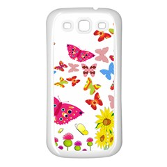 Butterfly Beauty Samsung Galaxy S3 Back Case (white) by StuffOrSomething