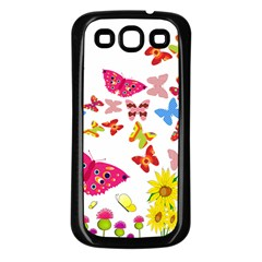Butterfly Beauty Samsung Galaxy S3 Back Case (black) by StuffOrSomething