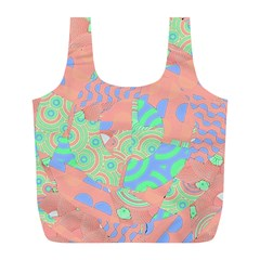 Tropical Summer Fruit Salad Full Print Recycle Bag (l) by CrypticFragmentsColors