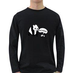 Panda Sneeze Men s Long Sleeve T Shirt (dark Colored)