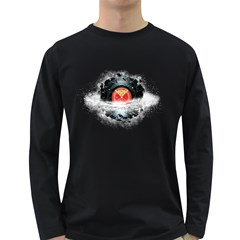 Space Tune Men s Long Sleeve T-shirt (dark Colored) by Contest1854579