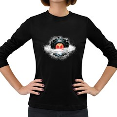 Space Tune Women s Long Sleeve T Shirt (dark Colored) by Contest1854579