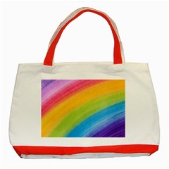 Acrylic Rainbow Classic Tote Bag (red) by StuffOrSomething