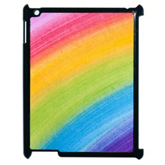Acrylic Rainbow Apple Ipad 2 Case (black) by StuffOrSomething