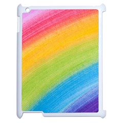 Acrylic Rainbow Apple Ipad 2 Case (white) by StuffOrSomething