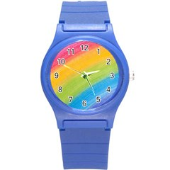 Acrylic Rainbow Plastic Sport Watch (small) by StuffOrSomething