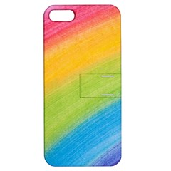 Acrylic Rainbow Apple Iphone 5 Hardshell Case With Stand by StuffOrSomething