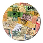 Retro Concert Tickets 8  Mouse Pad (Round) Front