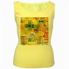Retro Concert Tickets Women s Tank Top (yellow)