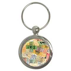 Retro Concert Tickets Key Chain (round) by StuffOrSomething