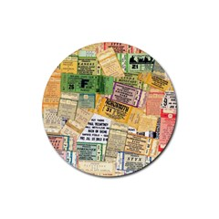 Retro Concert Tickets Drink Coaster (round) by StuffOrSomething