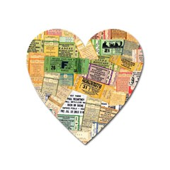 Retro Concert Tickets Magnet (heart) by StuffOrSomething