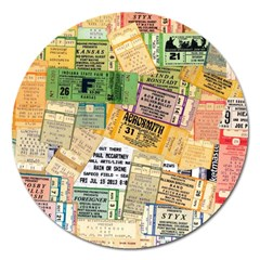 Retro Concert Tickets Magnet 5  (round) by StuffOrSomething