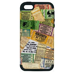 Retro Concert Tickets Apple Iphone 5 Hardshell Case (pc+silicone) by StuffOrSomething