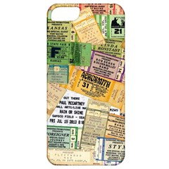 Retro Concert Tickets Apple Iphone 5 Classic Hardshell Case by StuffOrSomething