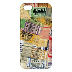Retro Concert Tickets Apple Iphone 5 Premium Hardshell Case by StuffOrSomething