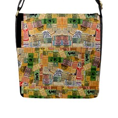 Retro Concert Tickets Flap Closure Messenger Bag (large) by StuffOrSomething