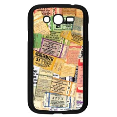 Retro Concert Tickets Samsung Galaxy Grand Duos I9082 Case (black)