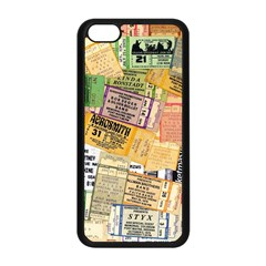 Retro Concert Tickets Apple Iphone 5c Seamless Case (black) by StuffOrSomething