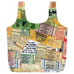 Retro Concert Tickets Reusable Bag (xl) by StuffOrSomething