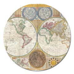 1794 World Map Magnet 5  (round) by StuffOrSomething
