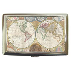 1794 World Map Cigarette Money Case by StuffOrSomething