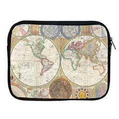 1794 World Map Apple Ipad Zippered Sleeve
