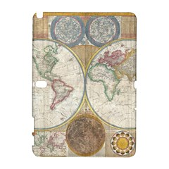 1794 World Map Samsung Galaxy Note 10 1 (p600) Hardshell Case by StuffOrSomething