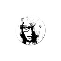 Hipster Zombie Girl Golf Ball Marker by chivieridesigns