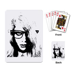 Hipster Zombie Girl Playing Cards Single Design by chivieridesigns