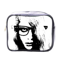 Hipster Zombie Girl Mini Travel Toiletry Bag (one Side) by chivieridesigns