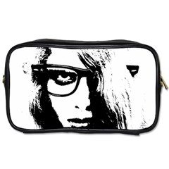 Hipster Zombie Girl Travel Toiletry Bag (two Sides) by chivieridesigns