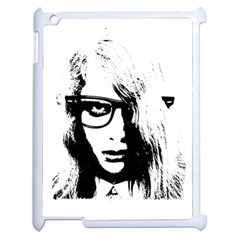 Hipster Zombie Girl Apple Ipad 2 Case (white) by chivieridesigns