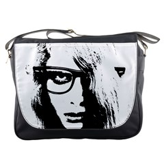 Hipster Zombie Girl Messenger Bag by chivieridesigns