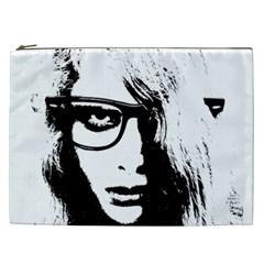Hipster Zombie Girl Cosmetic Bag (xxl) by chivieridesigns